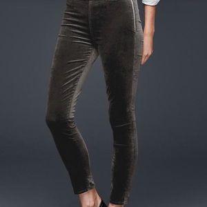 Gap Velvet side zip leggings
